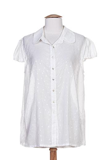 epicea chemises femme de couleur blanc
