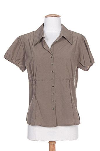 epicea chemises femme de couleur marron