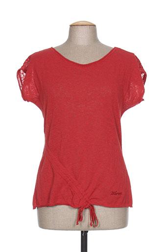 mirea pulls femme de couleur rouge