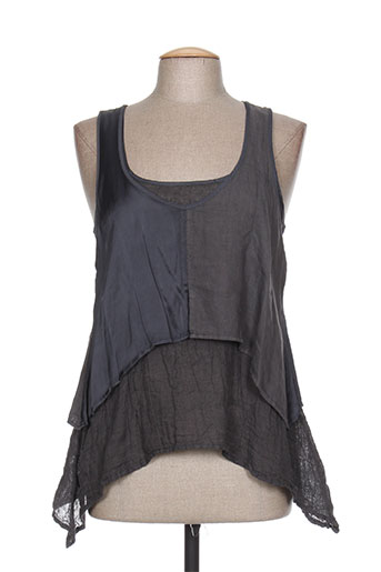la stampa chemises femme de couleur gris