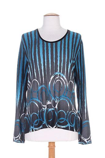 jean delfin t-shirts femme de couleur bleu