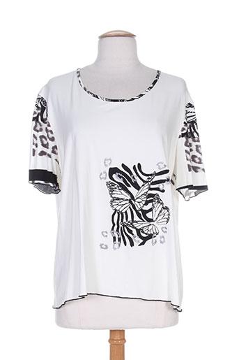 saint charles t-shirts femme de couleur blanc