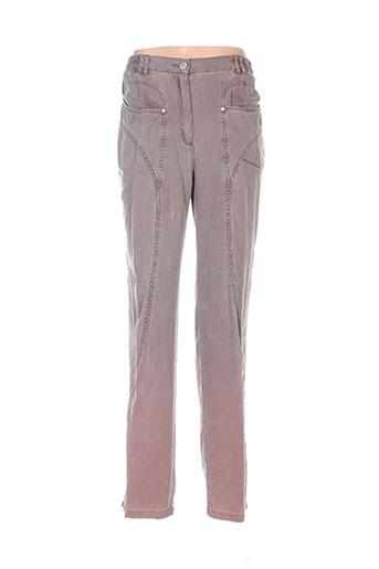 epicea pantalons femme de couleur marron