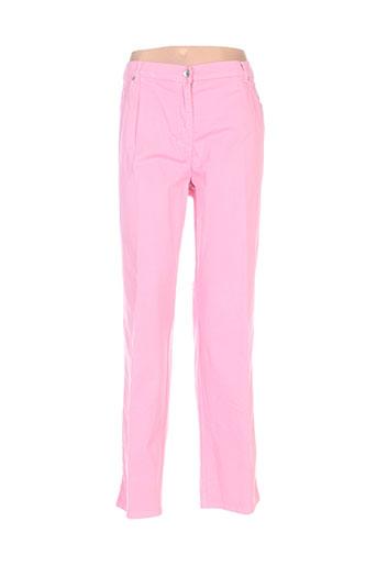 richy pantalons femme de couleur rose
