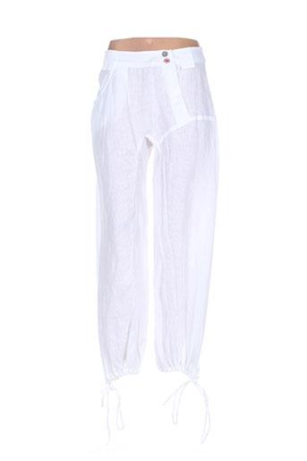 la stampa pantalons femme de couleur blanc