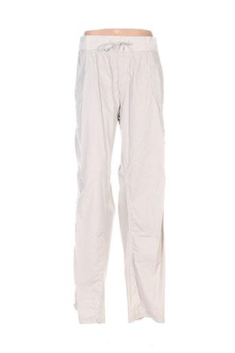 capuccina pantalons femme de couleur beige