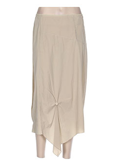 Jupe mi-longue beige EPICEA pour femme