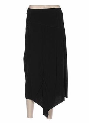 Jupe mi-longue noir EPICEA pour femme