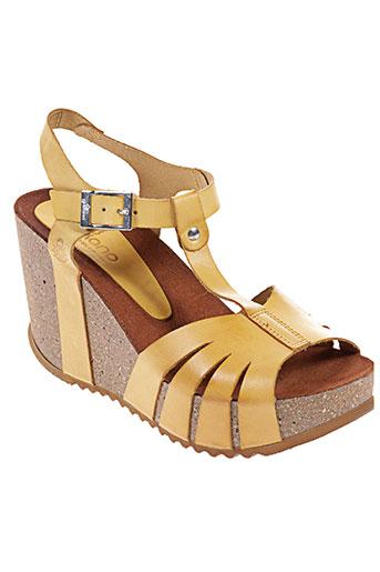 yokono chaussures femme de couleur jaune