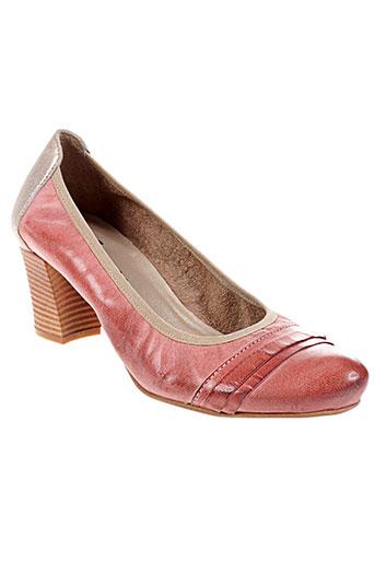 santafe chaussures femme de couleur orange