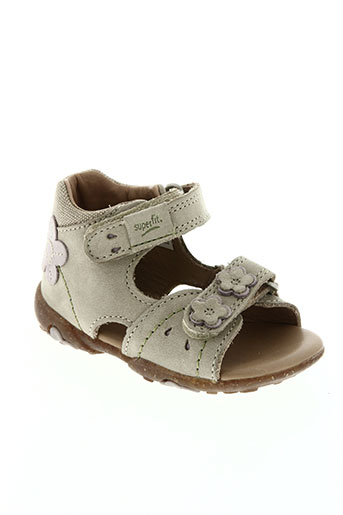 super fit chaussures fille de couleur beige