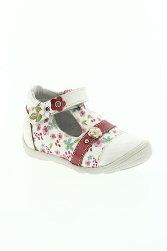 gbb chaussures fille de couleur blanc
