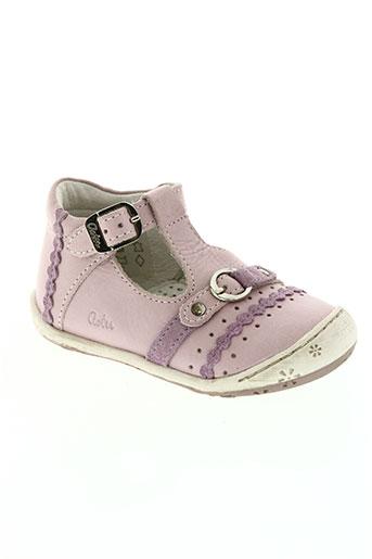 aster chaussures fille de couleur rose