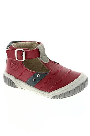 aster chaussures garçon de couleur rouge
