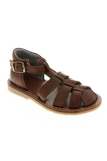 knepp chaussures garçon de couleur marron