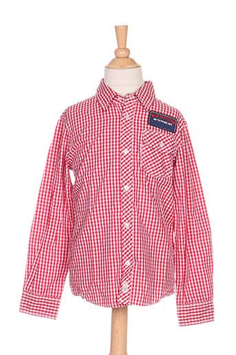 mexx chemises garçon de couleur rouge