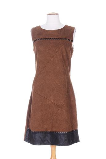 moka's robes femme de couleur marron