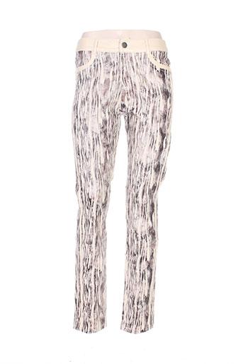 louna pantalons femme de couleur beige