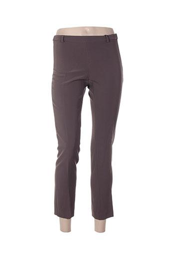 absolu pantalons femme de couleur gris