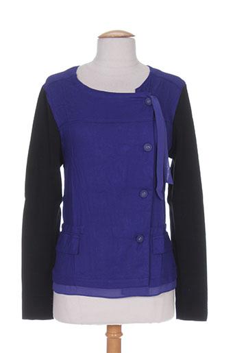 Veste casual bleu CAPTAIN TORTUE pour femme