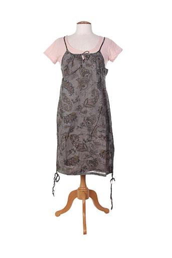 Robe mi-longue gris MISS CAPTAIN pour femme