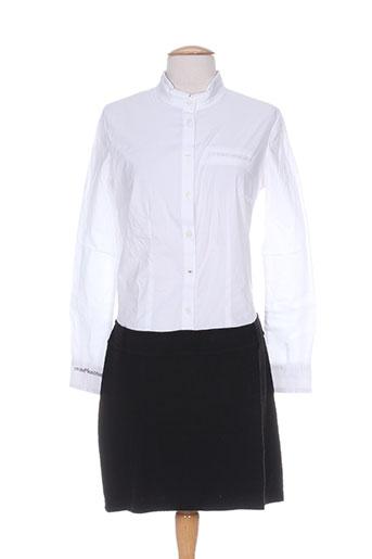 Robe courte blanc MISS CAPTAIN pour femme