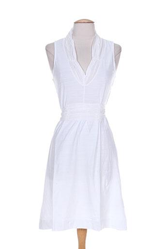 Robe mi-longue blanc MISS CAPTAIN pour femme