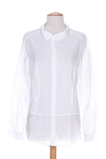 miss captain chemises femme de couleur blanc