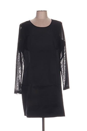 Robe mi-longue noir MISS CAPTAIN pour femme