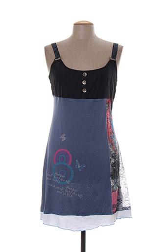 rose bleue robes femme de couleur bleu