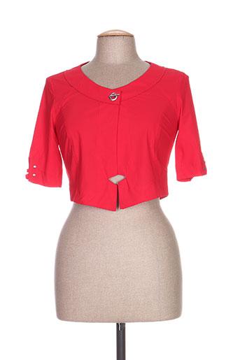deca vestes femme de couleur rouge