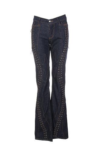 Jeans coupe droite bleu CUSTO pour femme