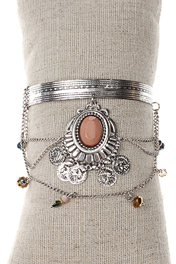 Bracelet Manchette gris PARFOIS pour femme