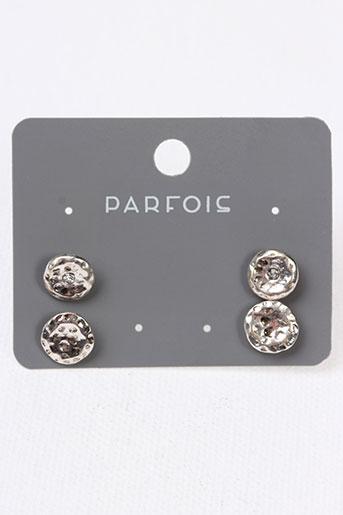 Boucles d'oreilles gris PARFOIS pour femme