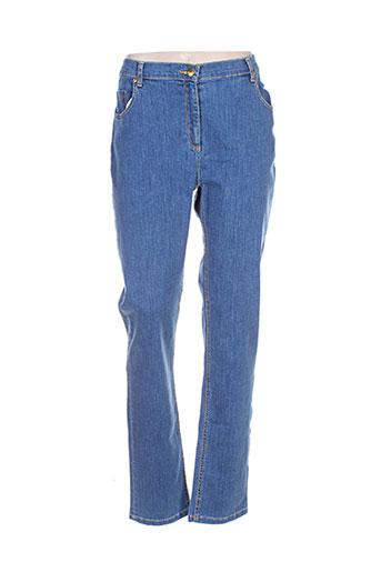 lucchini jeans femme de couleur bleu
