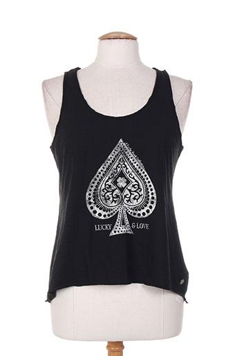 lucky t-shirts femme de couleur noir
