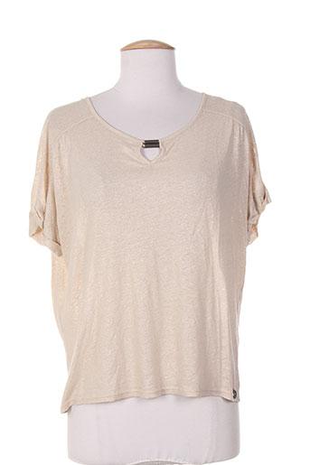 les filles de neaux t-shirts femme de couleur beige