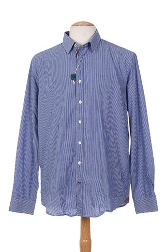 men of all nation chemises homme de couleur bleu