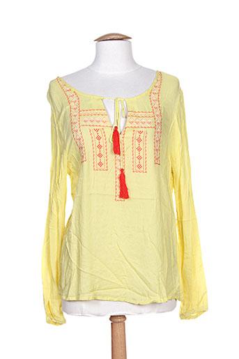 carminn tuniques femme de couleur jaune