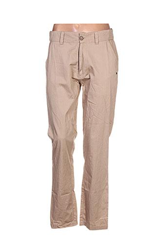 Pantalon casual beige GOUBI pour femme