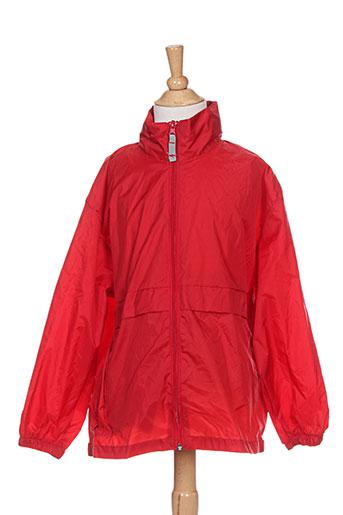 b&c manteaux garçon de couleur rouge