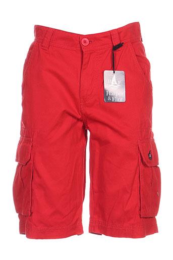 harper&flint shorts / bermudas homme de couleur rouge