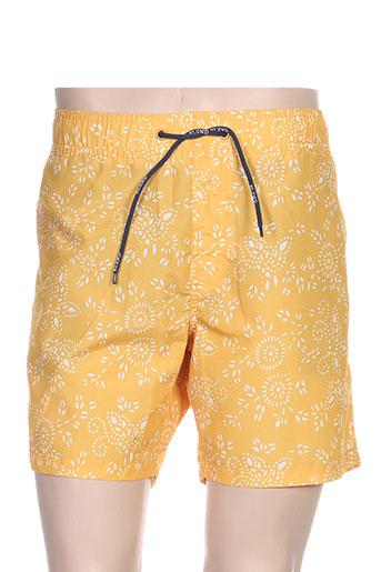 blend maillots de bain homme de couleur jaune