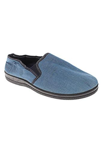 transat chaussures homme de couleur bleu