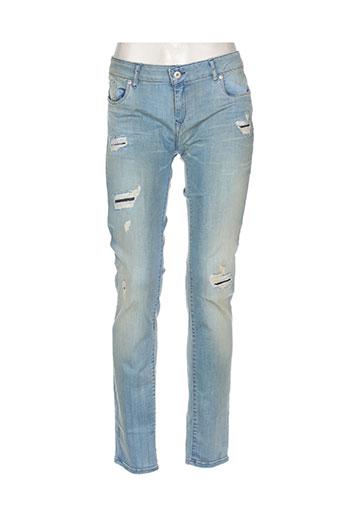 kaporal jeans femme de couleur bleu