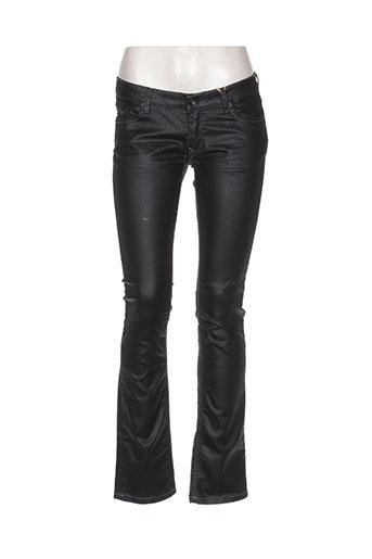 kaporal jeans fille de couleur noir