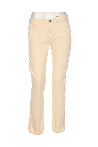 Pantalon casual beige EDEN ROCK pour femme