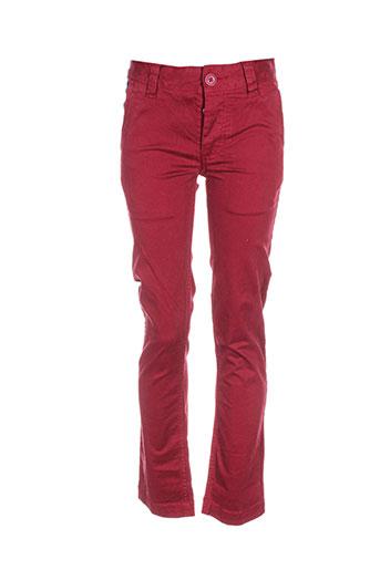 kaporal pantalons fille de couleur rouge
