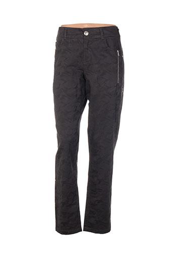 Pantalon casual noir ONE STEP pour femme
