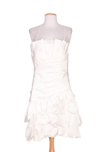 ellebeline robes femme de couleur blanc